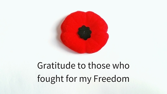Gratitude to those who fought for my freedom
