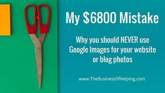 Why you should never use Google images for your website or blog photos